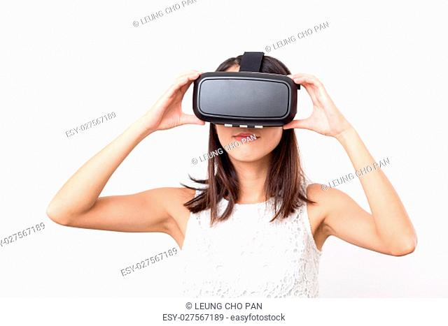 Asian Woman using virtual reality