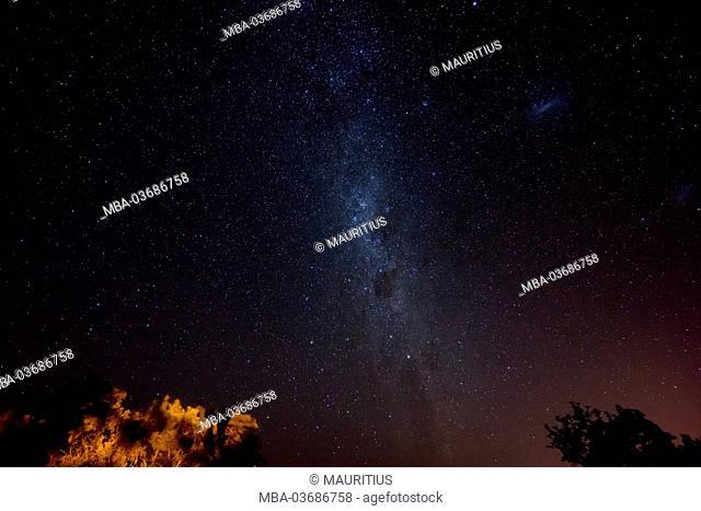 Milky Way, starry sky of the southern hemisphere