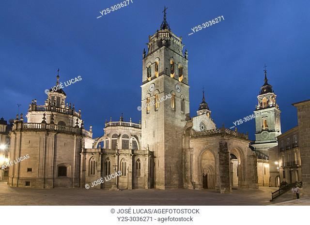 Romanesque Cathedral of Santa Maria -12th century, Lugo, Region of Galicia, Spain, Europe