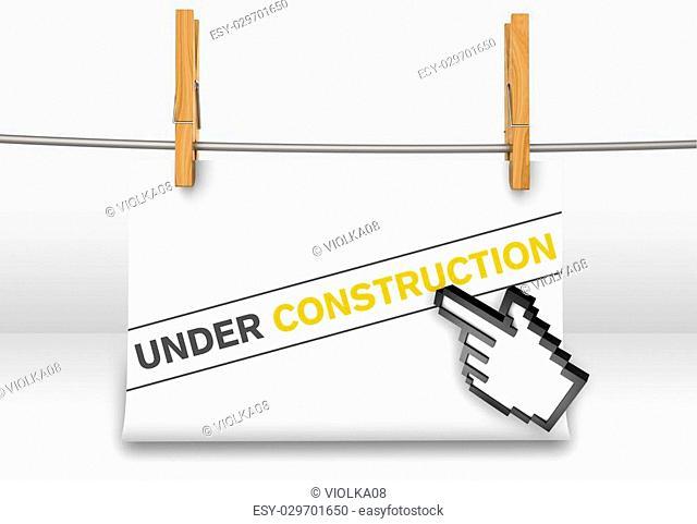 Website under construction as a concept
