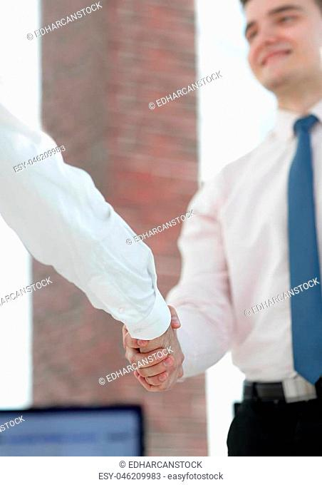 concept of partnership. the handshake business partners.business background