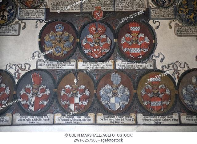 Coat of Arms, Old Royal Palace, Prague Castle, Prague, Czech Republic