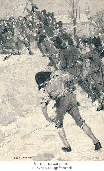 'Bonaparte Attacking Snow Forts at the School of Brienne', 1896. Artist: M Haider