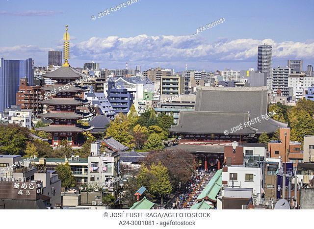 Japan , Tokyo City, Asakusa District, Sensoji Temple