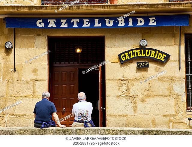 Gastronomic society Gaztelubide, Parte Vieja, Old Town, Donostia, San Sebastian, Gipuzkoa, Basque Country, Spain