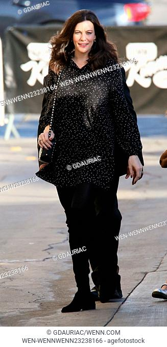 Liv Tyler arrives at the ABC studios for Jimmy Kimmel Live! in Hollywood Featuring: Liv Tyler Where: Los Angeles, California