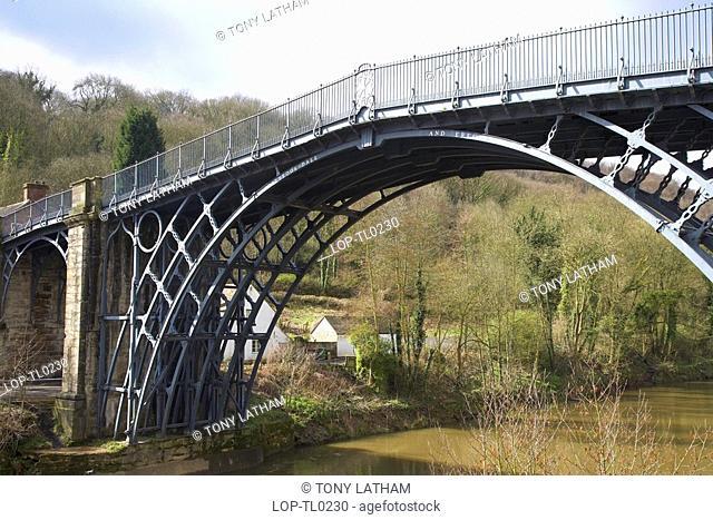 England, Shropshire, Ironbridge, The bridge at Ironbridge in Shropshire