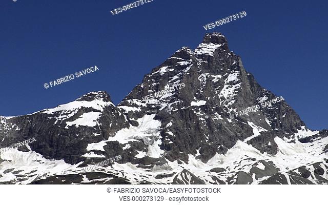 Mount Cervino or Matterhorn south face, Aosta Valley, Italy