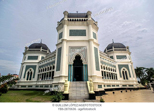 The Grand Mosque in Medan, Sumatra, Indonesia