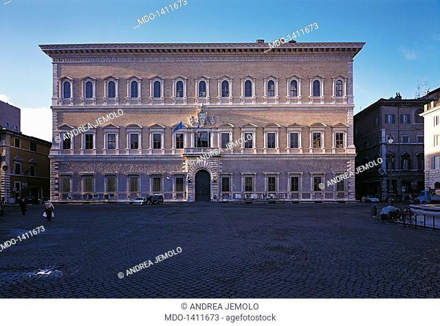 Palazzo Farnese, by Buonarroti Michelangelo, Barozzi Jacopo known as Vignola, Cordini Antonio known as Antonio da Sangallo il Giovane, Della Porta Giacomo, 1517