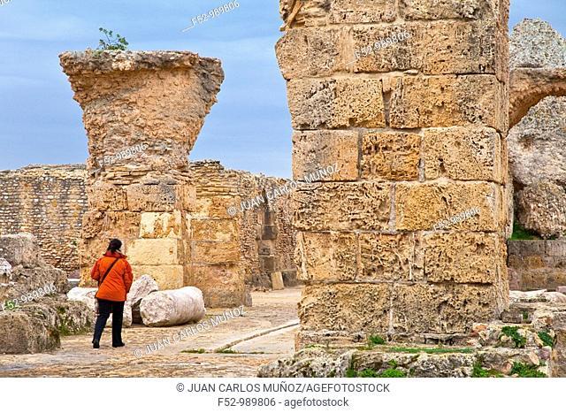 Antonine baths. Cartago. Tunisia. Africa