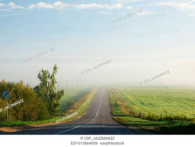 The road between the fields