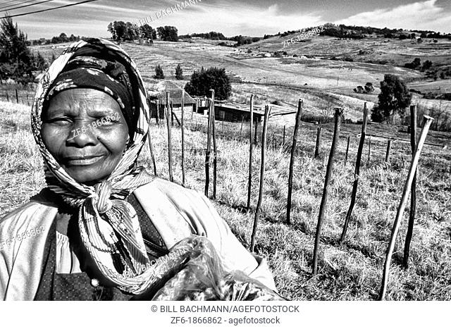 Colorful native Woman Near Mbabane the Capitol of Swaziland
