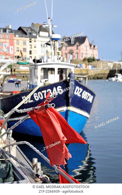 Fishing boat in Douarnenez, Brittany, France