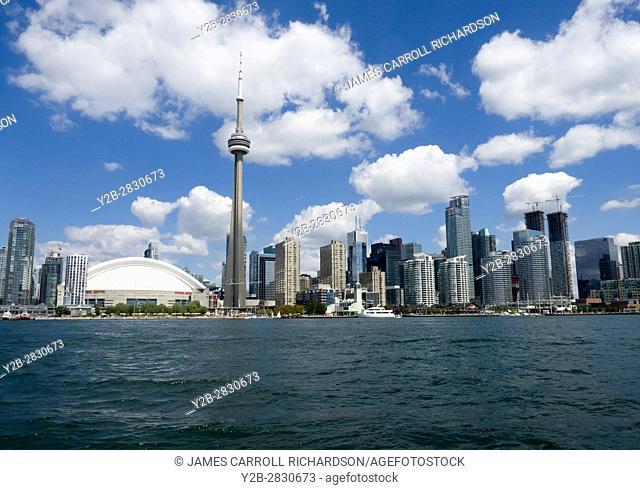 Toronto skyline and CN Tower from Toronto Lake