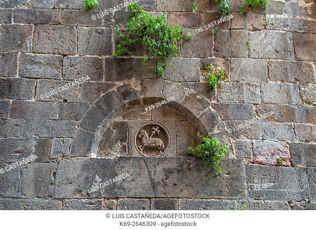 Wall. Old Barcelona. Spain
