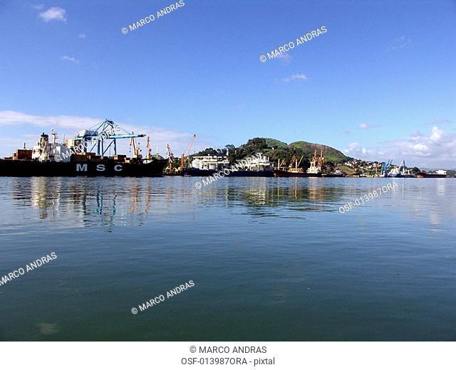 view of the harbor at espirito santo