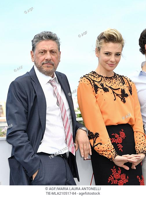 Sergio Castellitto, Jasmine Trinca, Stefano Accorsi attends 'Fortunata' film photocall at 70th Cannes Film Festival, Cannes 21/05/2017