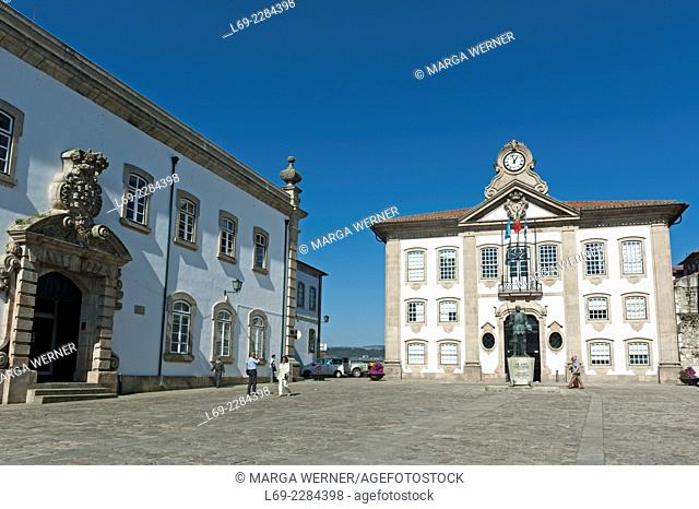 Historical market, Praça de Camões , Town Hall, Center of Chaves, District Vila Real, North of Portugal, Europe