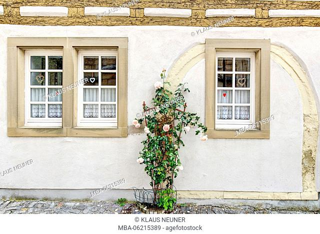 Facade, Old Town, Iphofen (village), Franconia, Bavaria, Germany, Europe