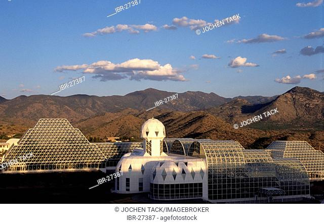 USA, United States of America, Arizona: Biosphere 2 Ceter of the Columbia University. From 1991 to 1993 3 people tried to live in this artificial world without...