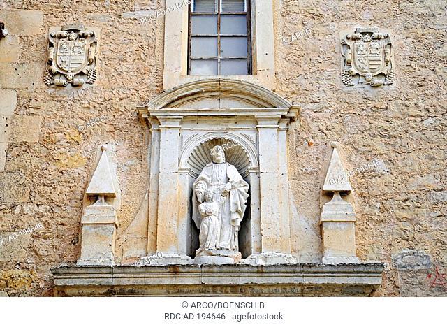 Figure of Saint, Convent in centre of art, former abbey, Cuenca, Castilla-La Mancha, Spain, Convento de las Carmelitas Descalzas, Fundacion Antonio Perez