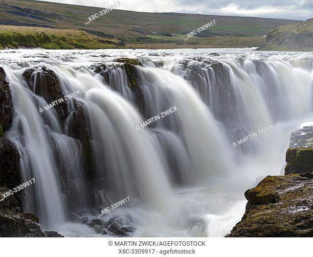 Waterfall Kolufossar near peninsula Vatnsnes in northern Iceland. Europe, Northern Europe, Iceland