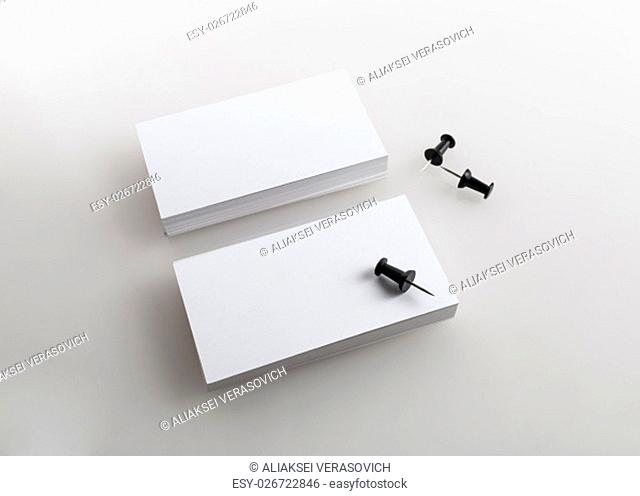 Blank business cards. Template for branding identity. Isolated with clipping path