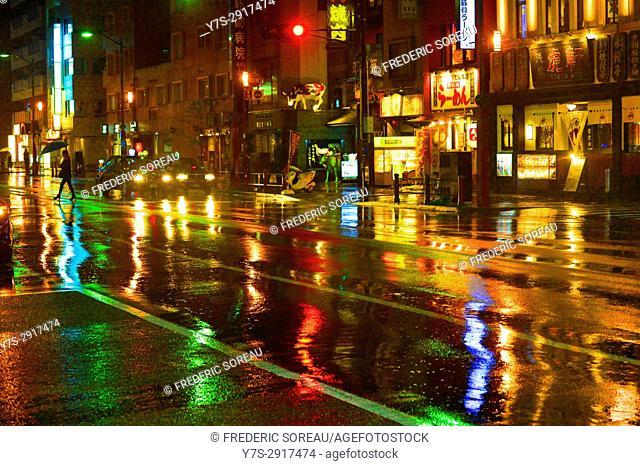 A strret of Asakusa by night, Tokyo, Japan,Asia