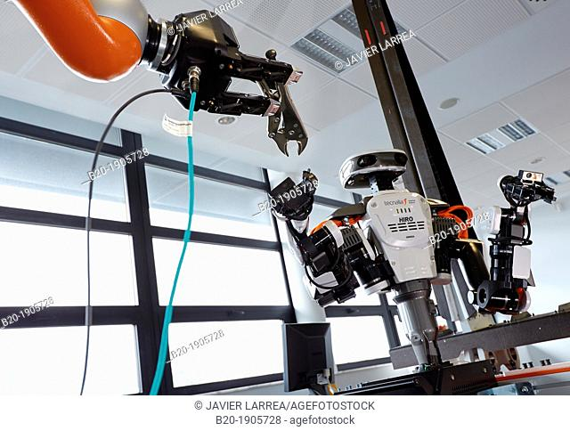 HIRO robot, Humanoid robot for automotive assembly tasks in collaboration with people and and LWR robot, using haptic teleoperation with force feedback  Safety...