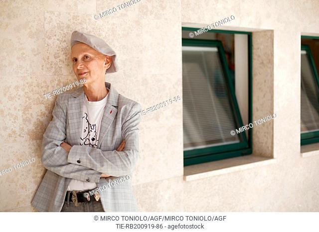 The writer Marie-Aude Murail poses for photographers at Literature Festival Pordenonelegge 2019, Pordenone, ITALY-19-09-2019