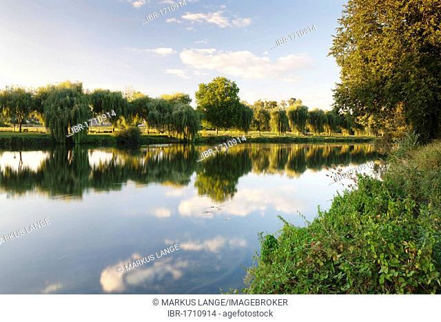 The river Cher at Chenonceau, Department Indre-et-Loire, Region Centre, France, Europe