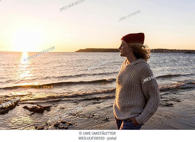 Teenage girl at the beach