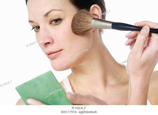 woman - beauty - mirror