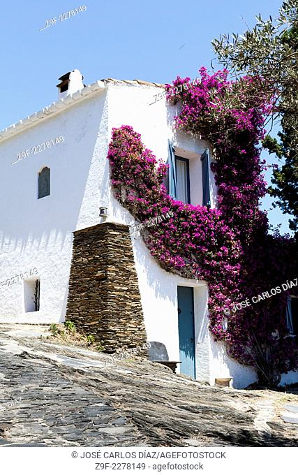 House in Port Lligat, Cadaques, Girona province, Catalonia, Spain