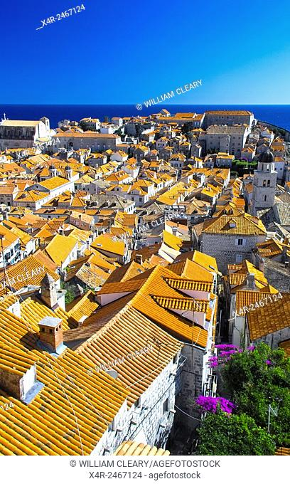 Dubrovnik rooftops, City of Dubrovnik, Dalmatia, Croatia
