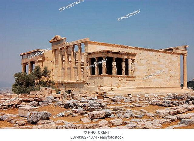 The Erechtheum - ancient Greek temple on the Acropolis