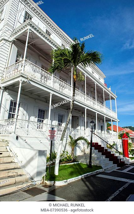 Governor residence in Charlotte Amalie capital of St. Thomas, US Virgin Islands
