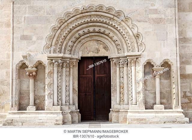 Bride's portal, Cathedral, Wiener Neustadt, Lower Austria, Austria, Europe