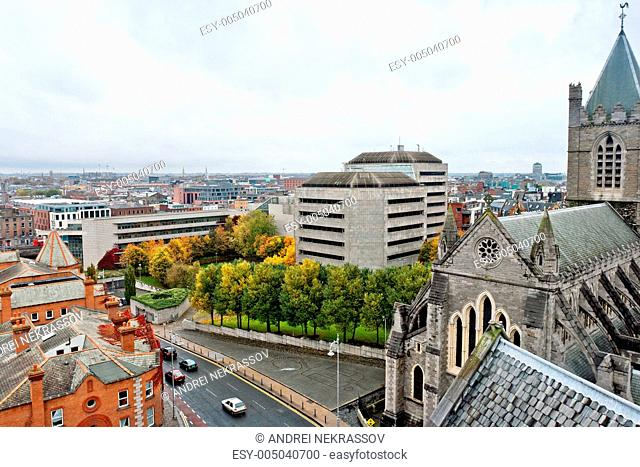 Cityscape of Dublin. Ireland