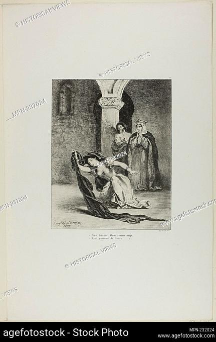Ophelia's Song, plate 12 from Hamlet - 1834 - Eugène Delacroix French, 1798-1863 - Artist: Eugène Delacroix, Origin: France, Date: 1834