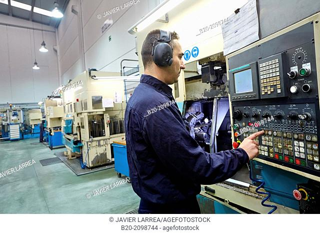 Technician CNC control. Area automated CNC lathes. Machined Indecober. Machining of precision parts in series. Automotive industry. Berriz. Bizkaia