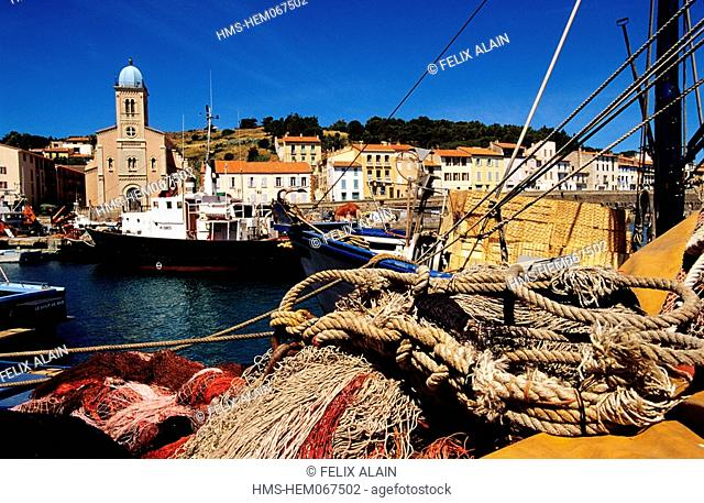 France, Pyrenees Orientales, fishing boats to Port Vendres