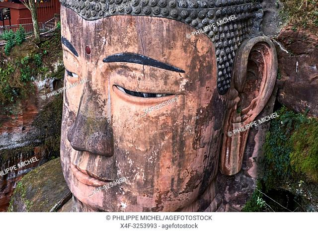 China, Sichuan province, Emei mount, Leshan, giant Buddha, Unesco world heritage