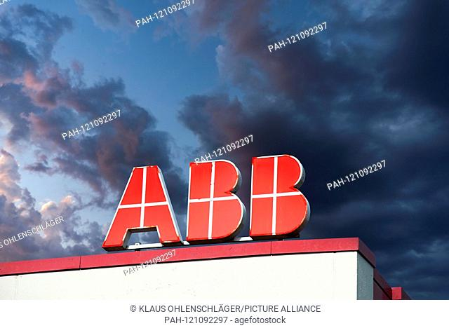 The ABB logo on the roof of a building [M] | usage worldwide