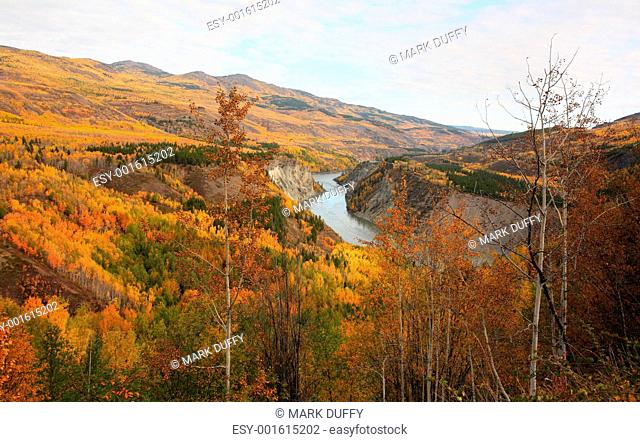 Grand Canyon of Stikine River in Northern British Columbia
