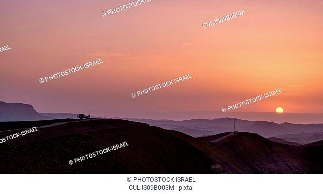 The Ramon Crater at sunset, Negev, Israel