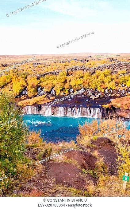 Hraunfossar waterfall, Iceland