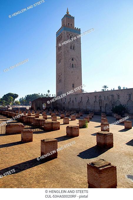 Tower overlooking courtyard