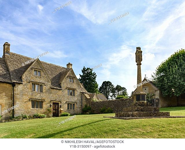 Guiting Power Village green, Cotswolds, UK